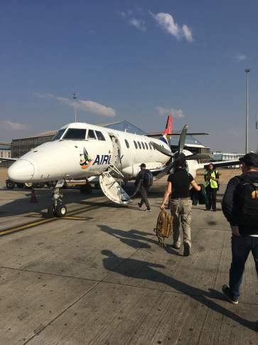 Flugzeug von Johannesburg nach Phalaborwa